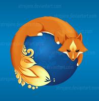 Mozilla Firefox Ukraine by AtreJane