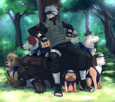 NARUTO: Master of the puppies by AtreJane