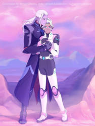 Commission: Lotor and Allura by AtreJane