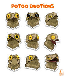 Potoo Emotions by AtreJane