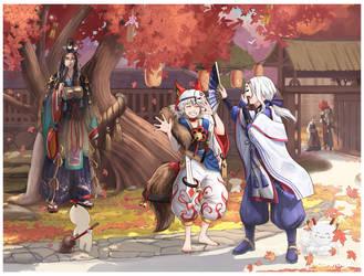 Onmyoji Game ShikigamiArt by AtreJane