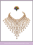Diamond Collier Necklace by LilyStox