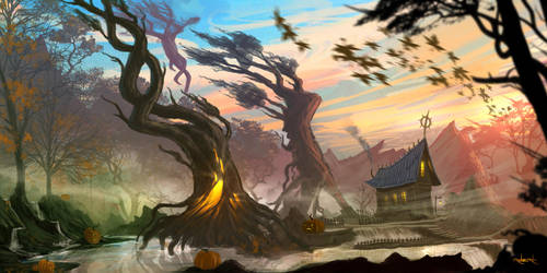 Halloween Afternoon by d1eselx