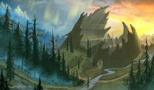 Grizzly Hills (WoW fan art) by d1eselx