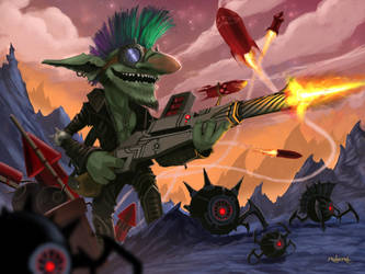 Goblin Punk Engineer by d1eselx