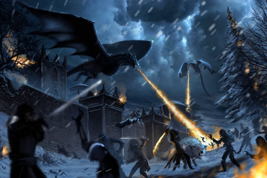 Battle of Winterfell by d1eselx