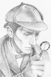 Peter Cushing - Sherlock Holmes by WanderingDragon379