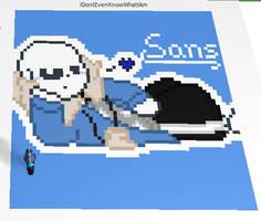 RBLX Pixel Creator - Undertale - Sans uses flirt by Stella-X