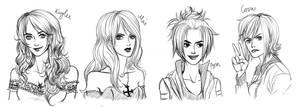 Kaylee, Mai, Arin, Cova by Arin-ya