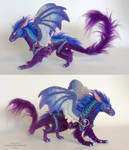 blue/purple mini dragon by kimrhodes