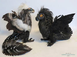 couple more feather-raptors by kimrhodes