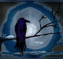 Blue Crow by plutoniancrow