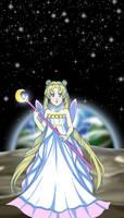 Alone on the moon by Tsuki--Sama