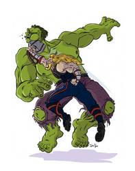 Thor owns Hulk by JoeFoo