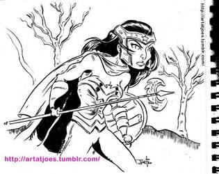 WonderWoman Sketchbook by JoeFoo