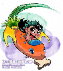 Lilo in a Pudge spaceship by JoeFoo