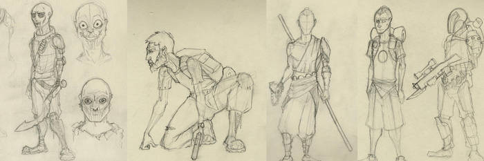Characters Sketch by lelaiquendi