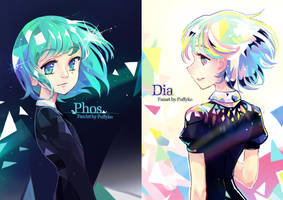 Houseki no Kuni - Phos and Dia by Puffyko