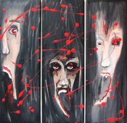 Three faces of horror by BirgitNoll