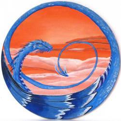 Orange World Dragon by BirgitNoll