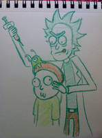 Complementary Colors Rick and Morty by Midori-Bun-Bun