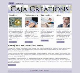 WIP - Caja Creations website by petrova