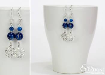 Winter Night earrings (OOAK) by petrova