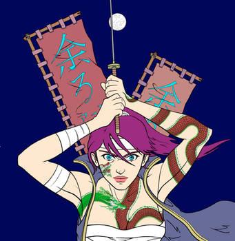 Samurai Girl by chiryogatito