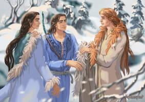 Turgon, Fingon, Maedhros by Mysilvergreen