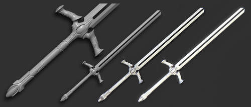 Double blade sword by MorozovIvan