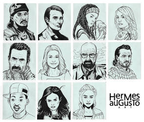 Mini Face Sketches by hermes-augusto