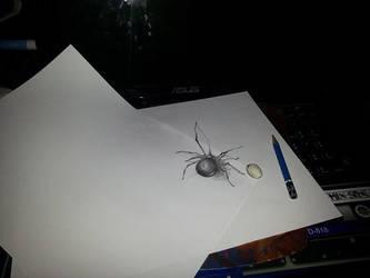 3D spider by Jonou