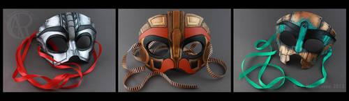 Steam Powered Giraffe Masks by CaseyAlexandra