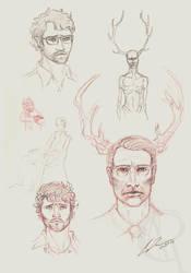 Hannibal sketches by CaseyAlexandra