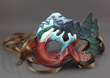 Northwest Mask + Ribbon by CaseyAlexandra