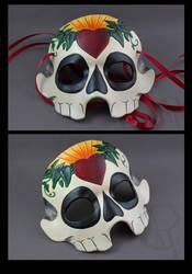 Sugar Skull Mask - Heart by CaseyAlexandra