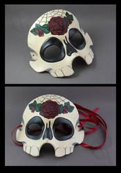 Sugar Skull Mask - Rose by CaseyAlexandra