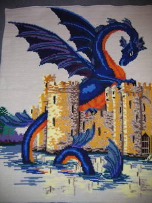 Crochet Dragon blanket by jetsmillion