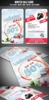 Winter Sale Card by graphicstock
