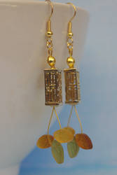 Gilded Cage Earrings by confusedcious