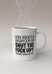 STFU Mug by pixelquarry