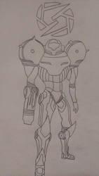Samus sketched by DewlShock