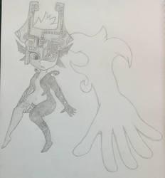 Midna sketched by DewlShock