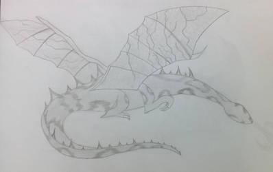 Dragon sketched by DewlShock