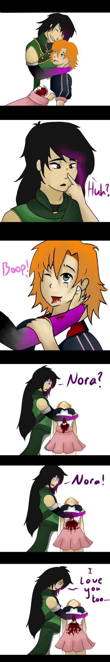 Ren and Nora by ChangelingRiddle