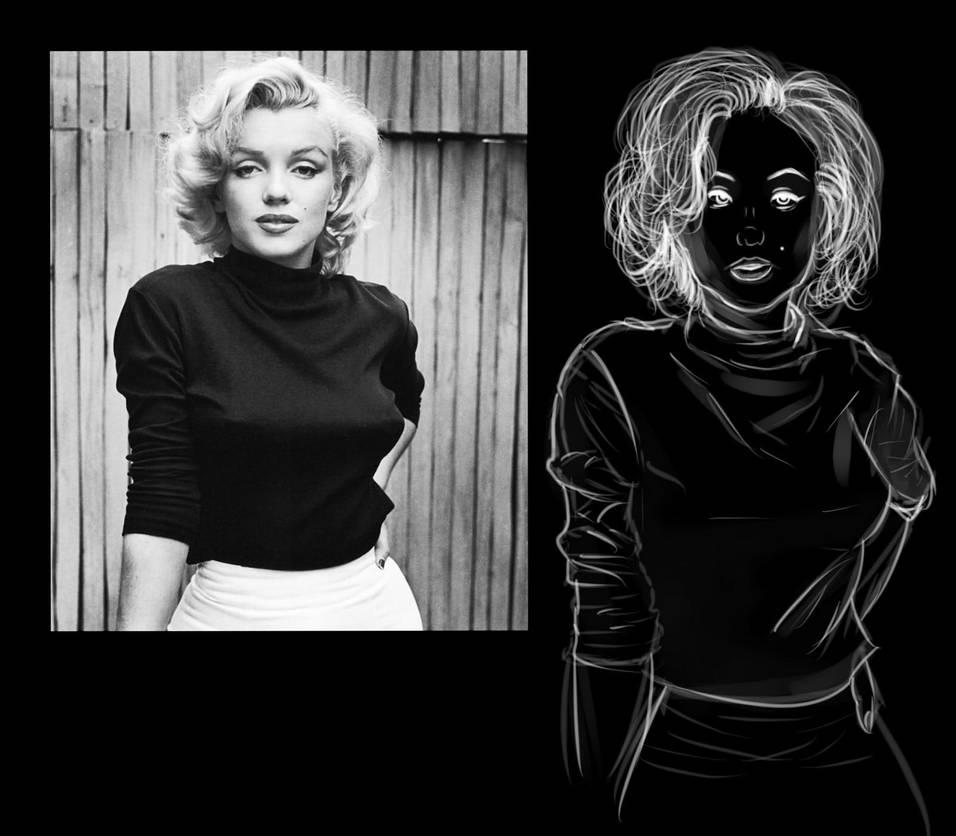 Marilyn Monroe by ChangelingRiddle