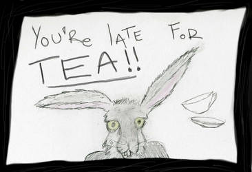 LATE FOR TEA by Alanian