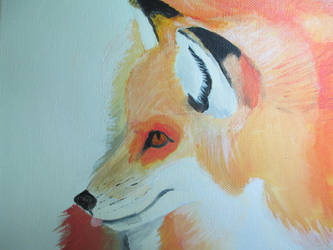 Beauty Red Fox painted by BellonaGrimm