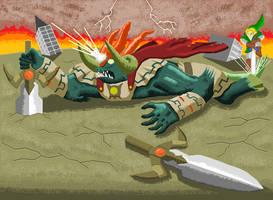 Zelda Oot battle with Ganon by ScepterDPinoy