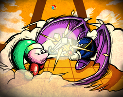 Kirby vs Meta Knight by ScepterDPinoy